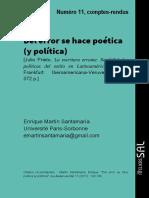 Algunas Aristas de Lo Que Está en Juego en La Política de La Estética de Jacques Ranciere
