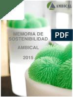 Memoria Sostenibilidad Ambical 2015