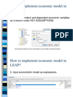 How to Implement Economic Model in LEAP