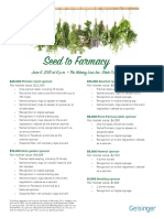 Seed to Farmacy Sponsorship Flyer