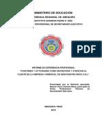 Informe de Experiencia Laboral