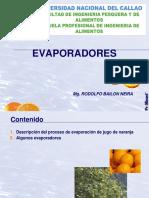 Evaporadoradores Para Conservacion Alimentaria