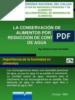 Conservacion x Reduccion de Agua