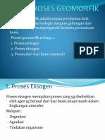 II. Proses Geomorfik