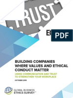 Building Companies Where Values and Ethical Conduct Matter