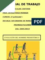 1º Evolucion Del Hombre Prehistorico