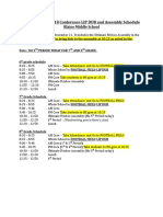 2018 - 2019 fall conference schedule november 21 before thanksgiving