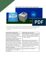 Cisterna Pre Fabricada vs Cisterna de Concreto