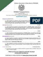 Sponsorship Packet PSRANM 2019 Conference