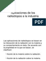 Radiactividad en Industria