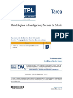 Metodología de Investigacion y Tecnicas de Estudio - Tareaa