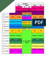 my 2018-2019 schedule