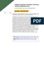 Investigacion Criminal Principios Tecnicas y Aplicaciones Biblioteca Icfs by Andrea Gimenez Salinas Framis Jose Luis Gonzalez Alvarez 848356484
