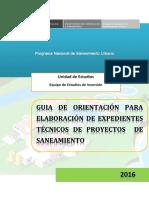 Guia de Orientación Para Elaboracion de Expedientes Técnicos de Proyectos de Saneamiento
