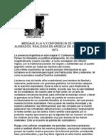 Perón-Discurso en Argelia 1973
