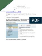 Validaciones y Sustituciones de Finanzas