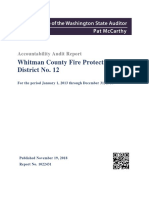 Whitman County Fire District 12 audit (Nov. 19, 2018)