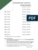 Cutoff Dates for Substitutes 18-19