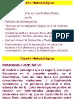 DISEÑO METODOLÓGICO DE UNA INVESTIGACION