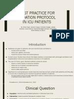 ebp- best practice for sedation protocol in icu patients