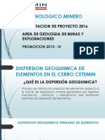 Dispersion Geoquimica Cerro Cetemin