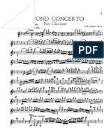 Weber Concerto Op. 74 n. 2.