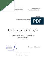 Motorisation Et Commande Des Machines Exercices Resolus