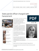 State Parole Officer Charged