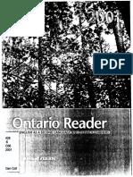 Ontario Reader 2001