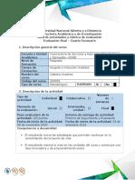 Guía de Actividades y Rubrica de Evaluación - Escenario 4- Evaluación Final