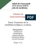 Gastroenterologia Trastornos de La Motilidad