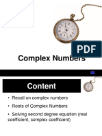 2013 W5 Complex Numbers LECTURER