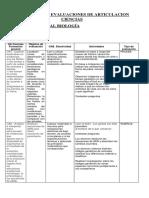 Actividades y Evaluaciones de Articulaciones Ciencias