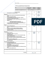 Research Proposal Rubric & Grade