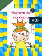 FICHAS DE REGISTRO PARA LA CONDUCTA