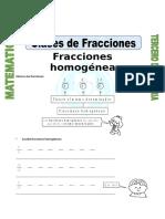 Ficha Clases de Fracciones
