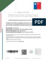 2. Certificado de Estatuto Actualizado