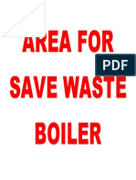 Area for Save Waste Boiler