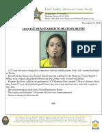 Nov. 19 - Teenage Mother Dead Following Destin Stabbing _Redacted