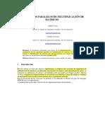 Informe DE MULTIPLICACION DE MATRICES