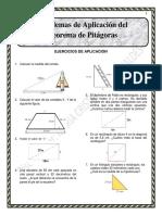 Problemas de Aplicación Del Teorema de Pitágoras