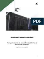 Deputados Estaduais SP - Levantamento de Dados 2009