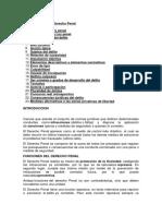 silabus de derecho Penal y Proc Penal