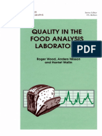 [R. Wood, H Wallin] Quality in the Food Analysis L
