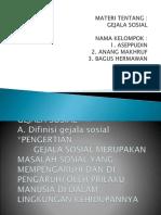 DIFINISI GEJALA SOSial