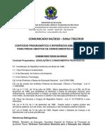 Comunicado 04 - Conteudo e Referencias Bibliograficas