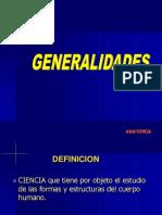 01. ANATOMIA. Generalidades