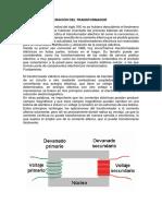 PRINCIPIOS DE OPERACIÓN DEL TRANSFORMADOR - ELECTRICIDAD