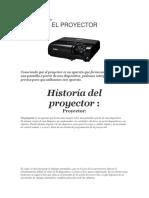 Historia Del Proyector