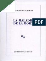 eBook Marguerite Duras - La Maladie de La Mort